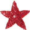 Motif Sequin/beads Star Red Hologram 7.5cm